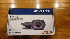 "(2) Alpine SPR-68 Type R 6""x8"" 2-Way Car Speakers"