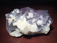 Zoned Purple & Blue FLUORITE w Barite - Blanchard Mine, Bingham, New Mexico