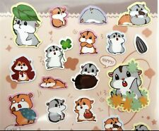 Japanese hamster stickers! Kawaii stickers pet cute animals planner sticker