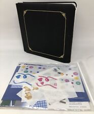 New Creative Memories 8x8 Fast to Fabulous Scrapbook Album Kit For Baby Black