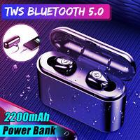 ❤ US bluetooth 5.0 Headset TWS Twins Wireless Headphone Stereo Earphones Earbuds
