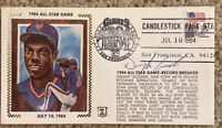 DWIGHT GOODEN Signed Autographed Baseball Cachet Envelope 1984 All-Star Game