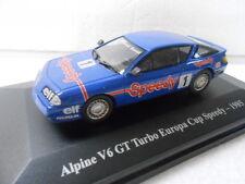 ALPINE V6 GT TURBO EUROPA CUP SPEEDY 1985 HACHETTE / ELIGOR , 1/43