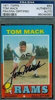 Tom Mack Hof Signed 1971 Topps Autograph Psa/dna Authentic