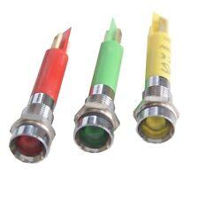 230VAC 240V Mains Recessed Chrome LED Indicator Green