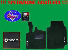 TAPPETINI tappeti Smart FORTWO 2 dal 2007 su misura con 2 loghi battitacco gomma