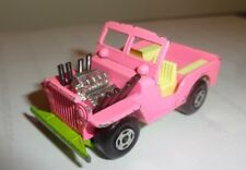 VINTAGE LESNEY/MATCHBOX  SERIES SUPERFAST No.2A JEEP HOT ROD GREEN BASE