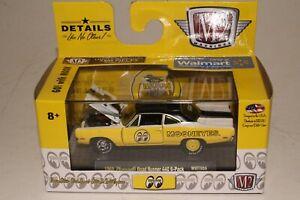 M2 MACHINES 1969 PLYMOUTH ROAD RUNNER 440 SIX PACK, MOONEYES, 1:64, NIB