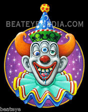 XNO-STICKER-CLOWN,CIRCUS,,HORROR,MONSTER,TATTOO,COMICS-STEPHEN KING,PENNYWISE