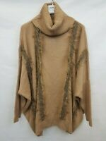 River Island Ladies jumper high neck poncho style oversized fit size M 02