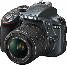 Nikon D3300 DSLR Camera with AF-S 18-55mm VRII Lens New