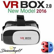 VR BOX 3D VIDEO REALTA' VIRTUALE VISORE OCCHIALI CASCO SMARTPHONE ANDROID APPLE