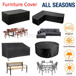 Waterproof Garden Patio Furniture Set Covers Table Sofa Chair Bench Cube Outdoor