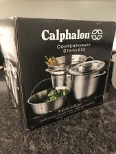 Calphalon Multi-Pot 8 Qt. Stainless Steel Interior Aluminum Core Dishwasher Safe