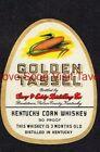 1940s Kentucky Bardstown GOLDEN TASSEL Corn Whiskey Label