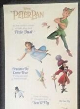 Disney Peter Pan VIP 10 ct Glow in the Dark Sticker Disney Movie Club Exclusive