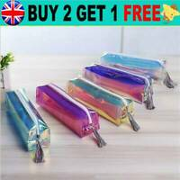 HOT Holographic Bag Travel Make Up Cosmetic Bag PU Pencil Case Zip Pouch DS