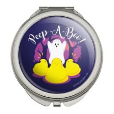 Peep A Boo Ghost Halloween Compact Travel Purse Handbag Makeup Mirror
