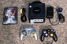 BLACK NINTENDO GAMECUBE SYSTEM BUNDLE - Console+Controls+Game+ Game Cube *NICE!*