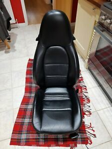 Pair of Porsche 911 996  986 Boxster Black Leather Electric Seats Used VGC