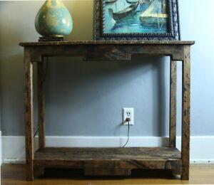 Sofa Table Handmade Reclaimed Pallet Wood- UpCycled  - Vintage, Rustic Look
