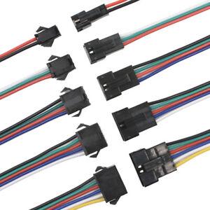 JST SM Stecker / Buchse Kabel 20cm Connector 2-6 Pin Lipo Draht für LED Streifen