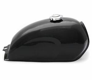 The Skyline Cafe Racer Gas Tank - Black Motorcycle Fuel Retro Classic Scrambler