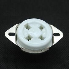 1PC Ceramic Silver Plated 4pin Vacuum Tube Sockets for 300B,2A3,811,5U4,5Z3,572B