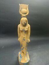 Rare Antique Ancient Egyptian Statue Isis Bc 28 cm