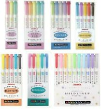 NEW Zebra Mild Liner Color Gel Ink Marker Pen Set WKT7 Free S/H Japan