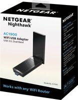 NETGEAR - Nighthawk AC1900 Dual-Band WiFi USB 3.0 Adapter - Black