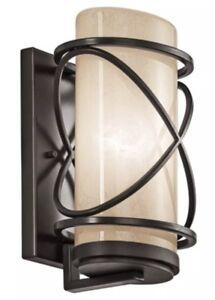 Kichler Lighting Trafari 1 Light Wall Lantern in Architectural Bronze 49357AZ