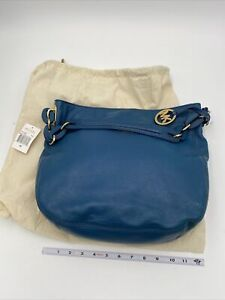 NEW With Tags  Michael Kors Bags Mk Hobo Style Handbag Large Blue Oasis Lily