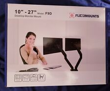 FLEXIMOUNTS F9D Dual Monitor Arm Desk Mount for 10''-27' Computer Monitor