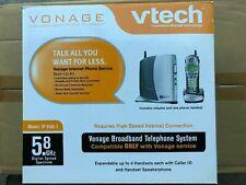 Vonage Vtech IP 8100-1 Broadband Telephone System Base & 3 Handsets