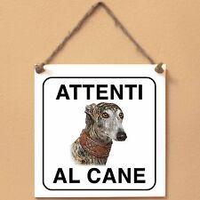 Galgo Espanol 3 Attenti al caneTarga cane cartello Ceramic Tiles