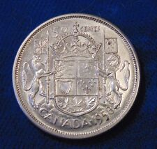CANADA Canadian 1958 silver fifty 50 cent cent piece half dollar coin EF