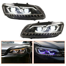 For VW Passat Headlamps 2012-2015 ALL LED Projector LED DRL Replace OEM Halogen
