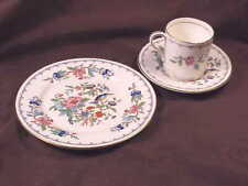 AYNSLEY PEMBROKE, 12 PIECE SETTING, 4 DEMITASSE CUPS/SAUCERS/4  B/B PLATES, MINT