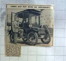 1960 Charles Escoffery Designs Solar Power For 1912 Baker Car