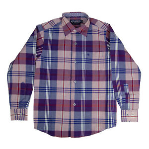 Langosta Boys Plaid Shirt Button Down Long Sleeve Stripe Plaid Sizes 06 - 16