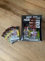 4 Factory Sealed Packs from 2020 Panini Mosaic No Huddle Football Hobby Box