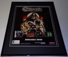 Castlevania Order of Ecclesia 2008 Nintendo 11x14 Framed ORIGINAL Advertisement