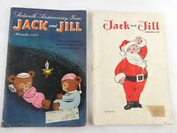 Vintage Jack and Jill Christmas 1951 Thanksgiving 1954 Ephemera