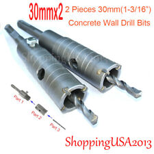 2 pc 30mm Concrete  Drill Bit Hole Saw Cutter Tool Set Brick Cement Stone Wall