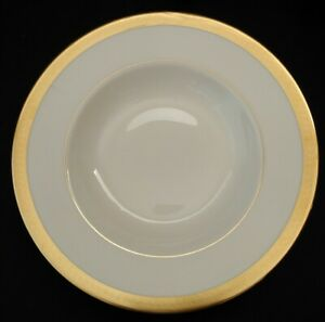 SYRACUSE CHINA BRACELET RIMMED SOUP BOWL(S) GOLD TRIM 8 3/4""