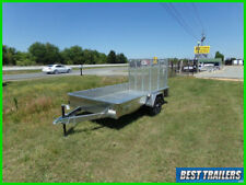 2021 belmont 6 x 10 aluminum utility trailer New lightweight 73x10 bed sold side