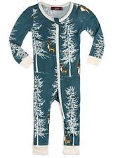 New Milkbarn Bamboo Zipper One Piece Pajamas Christmas Buck Size 3-4 Year