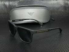 Emporio Armani Ea4047 506381 Black Rubber Polarized Grey 56 mm Men's Sunglasses