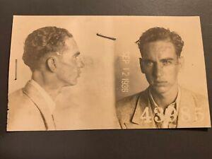 VINTAGE CRIMINAL MUG SHOT YOUNG MAN 1936